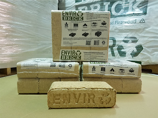 Wood brick pack